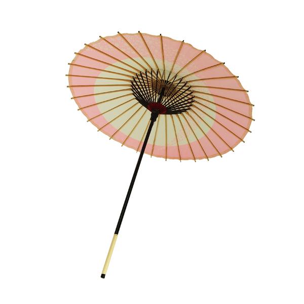 子ども用和傘 月奴桜流し ピンク