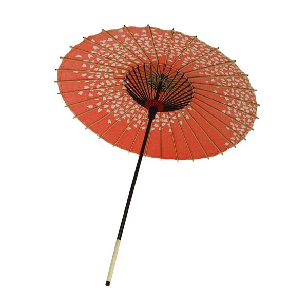 子ども用和傘 桜渦 朱色
