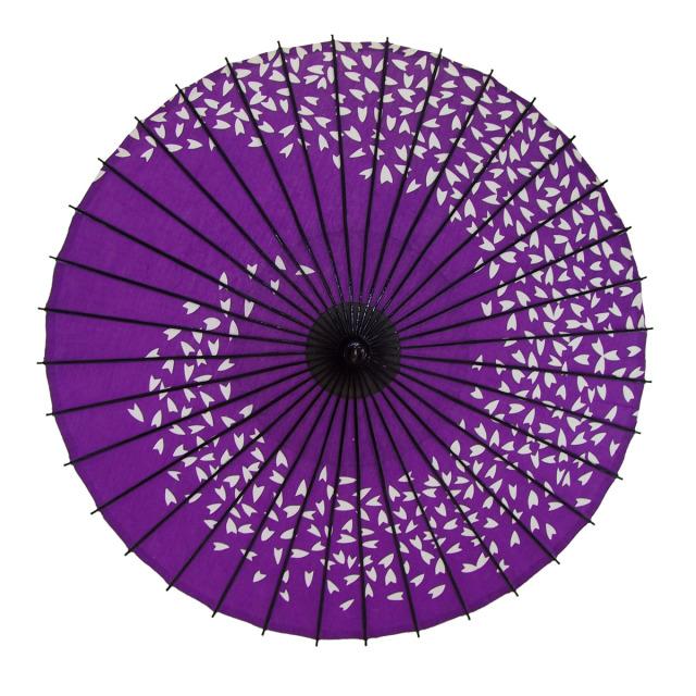 布傘 桜渦 紫