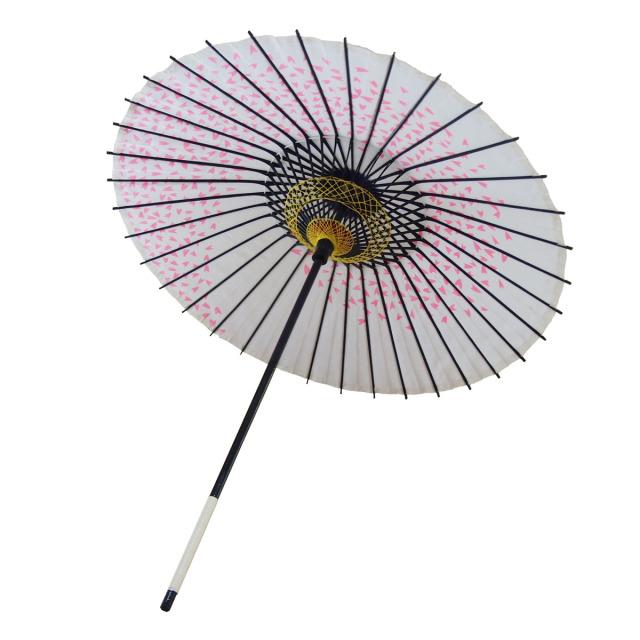 布傘 桜渦 白地ピンク