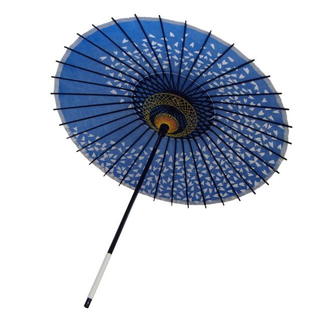 布傘 桜渦 青