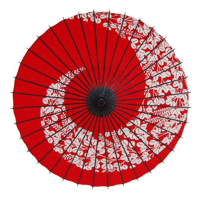 布傘 萩渦 朱色