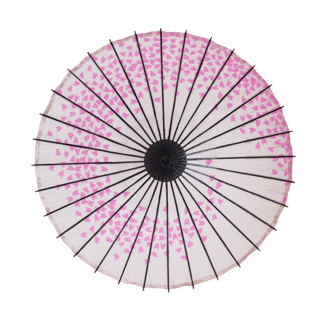 こども用和傘 桜渦 白地ピンク1