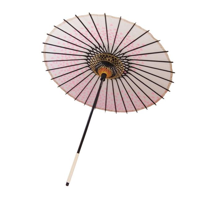 こども用和傘 桜渦 白地ピンク2