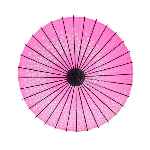 こども用和傘 桜渦 ピンク1