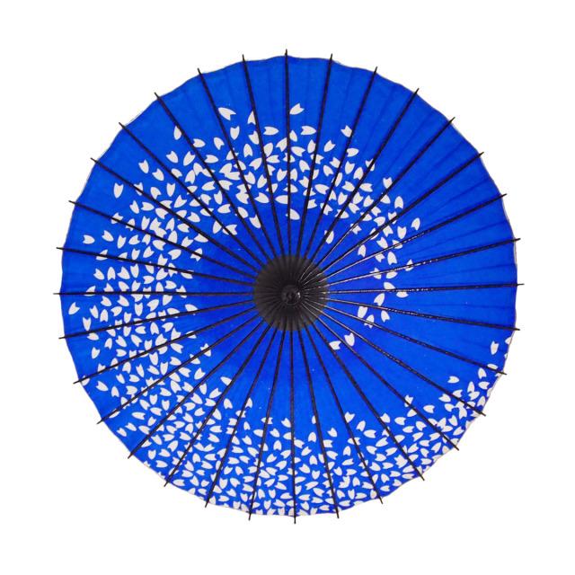 こども用和傘 桜渦 青1