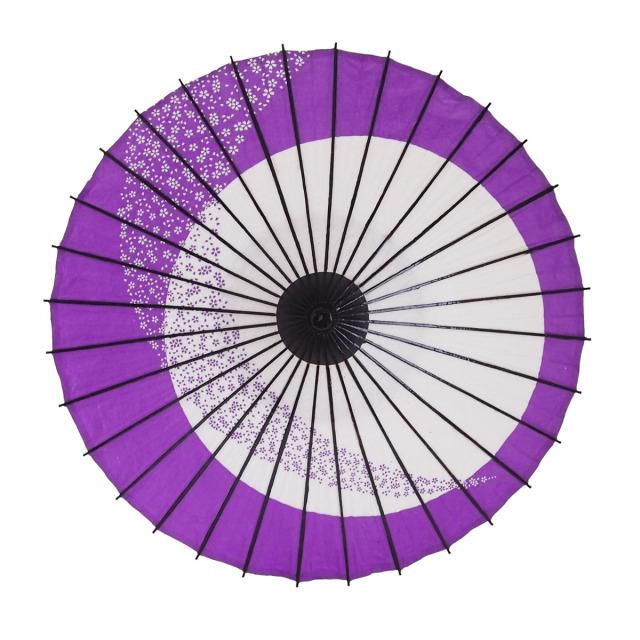 こども用和傘 月奴桜流し 紫1