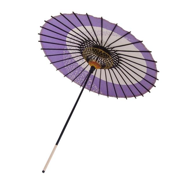 こども用和傘 月奴桜流し 紫2