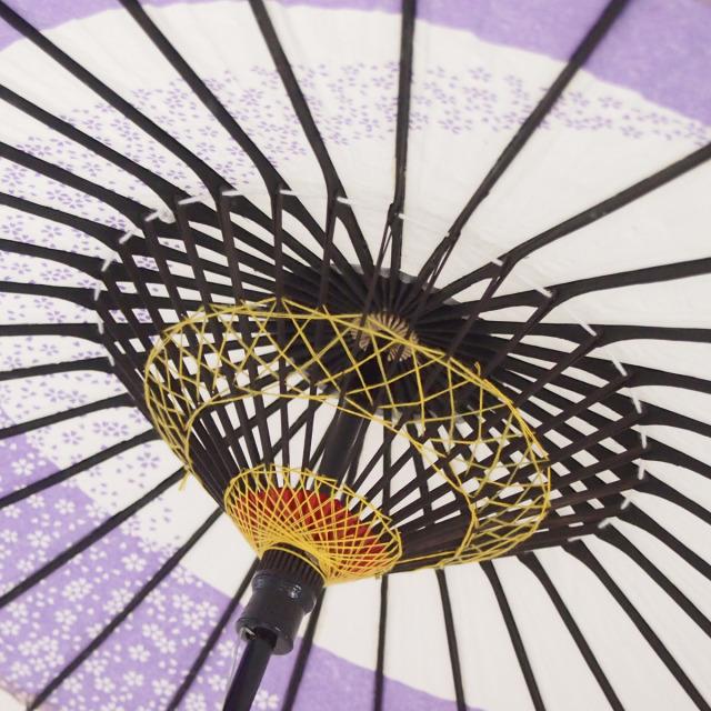 こども用和傘 月奴桜流し 紫3