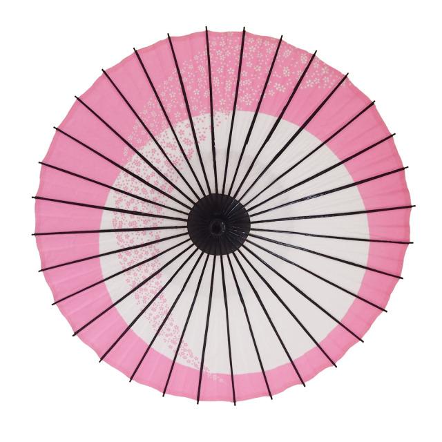 こども用和傘 月奴桜流し ピンク1
