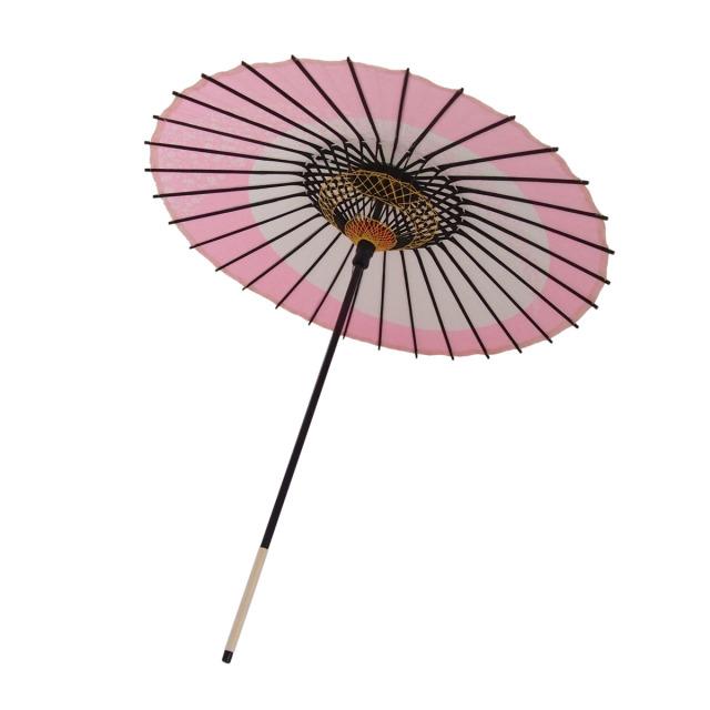 こども用和傘 月奴桜流し ピンク2