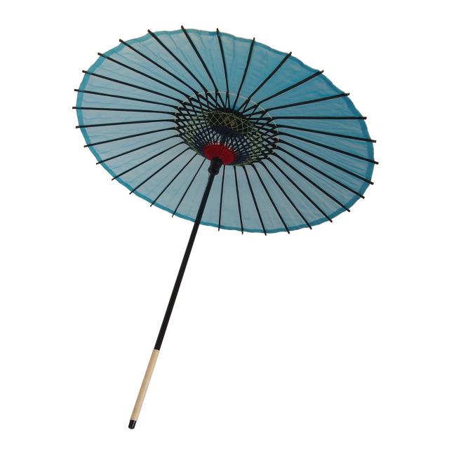 絹傘 無地 水色 1.2