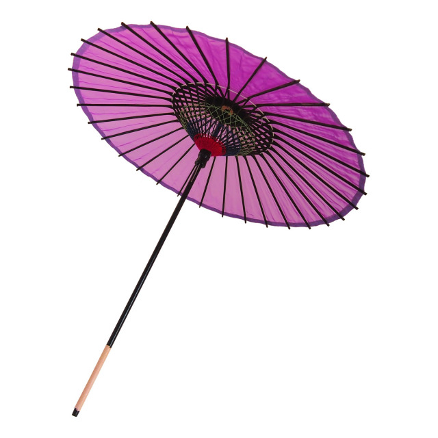 絹傘 無地 赤紫 1.2