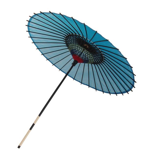 絹傘 無地 水色 1.4