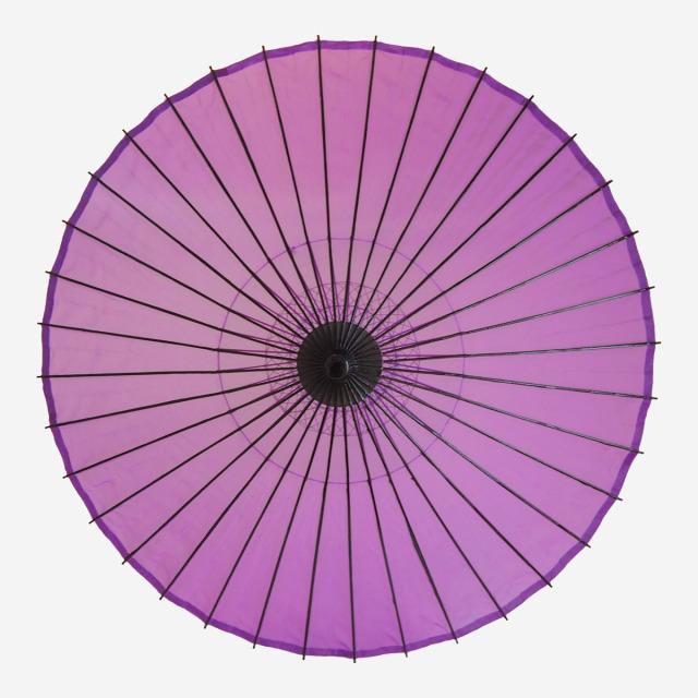 絹傘 無地 赤紫 1.4