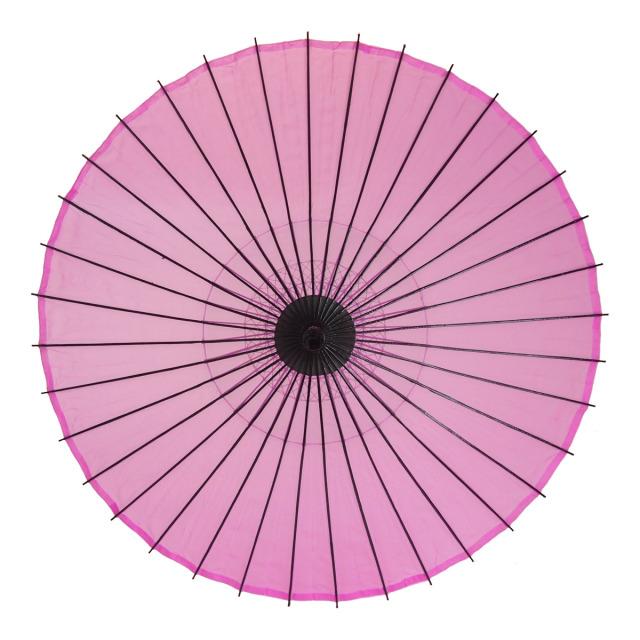 絹傘 無地 ピンク 1.4