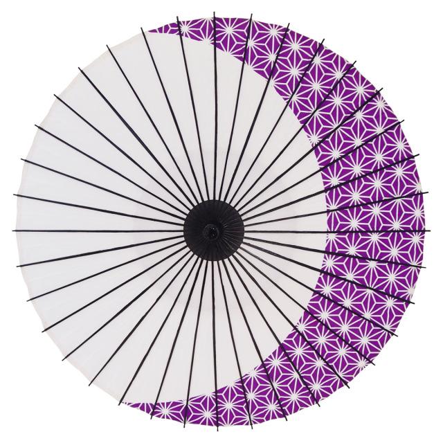 紙傘 尺4 麻月 紫