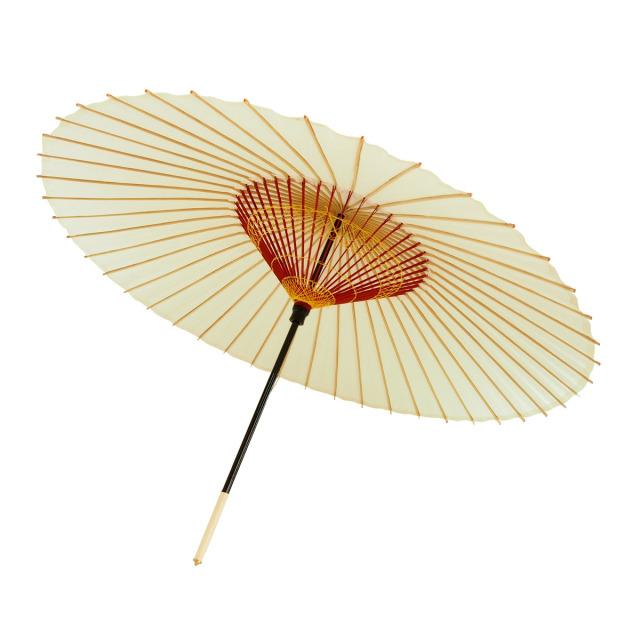 蛇の目傘 無地 白