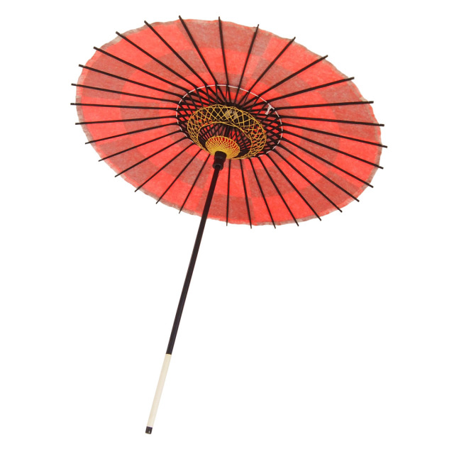 こども用和傘 市松 朱色