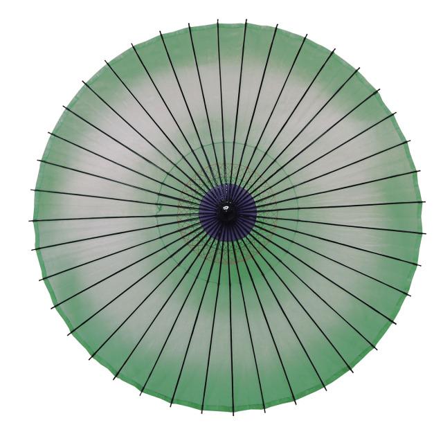 絹傘 ぼかし 緑
