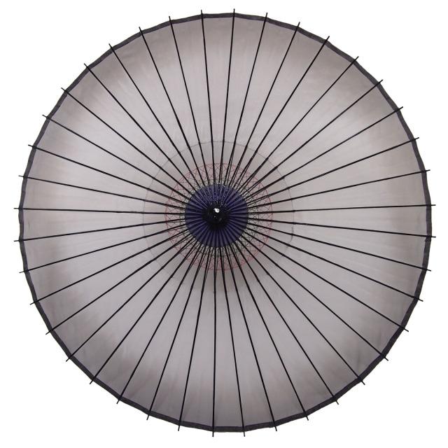 絹傘 ぼかし 黒