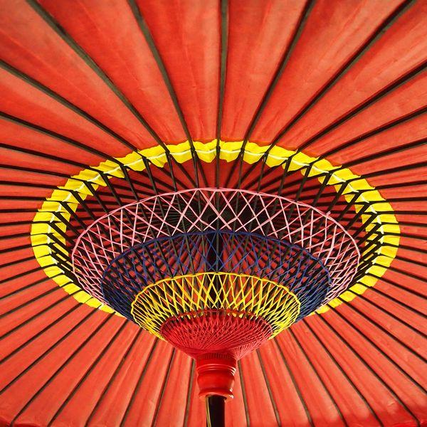 野点傘 25尺傘内部 /和傘・野点傘専門店 恭雅