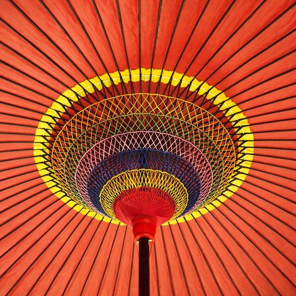 野点傘 35尺傘内部 /和傘・野点傘専門店 恭雅