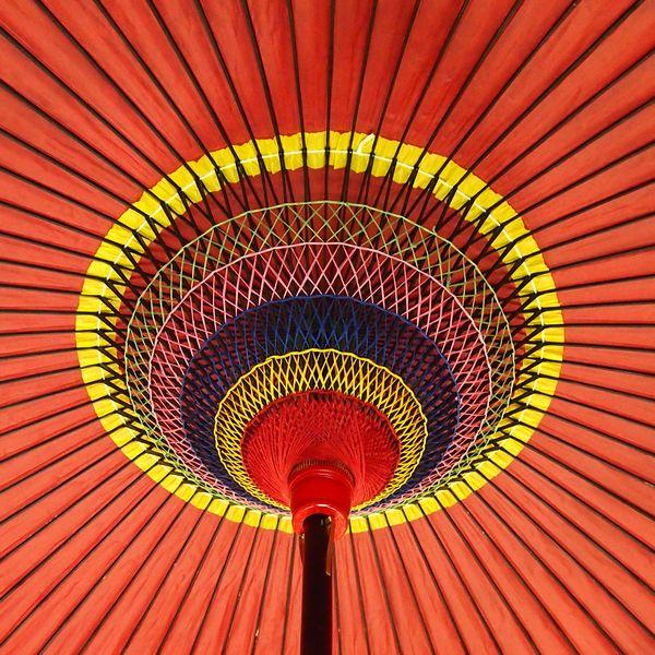 野点傘 30尺傘内部 /和傘・野点傘専門店 恭雅