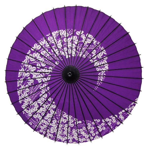 紙舞日傘 萩渦 紫