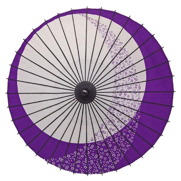 紙舞日傘 月やっこ桜流し 紫
