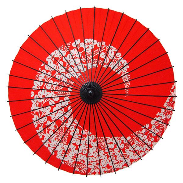 紙舞日傘 萩渦 エンジ