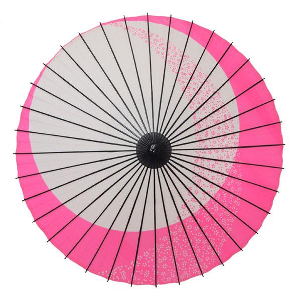 紙舞日傘 月やっこ桜流し ピンク