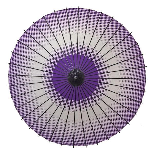 紙舞日傘 細点蛇の目柄 紫