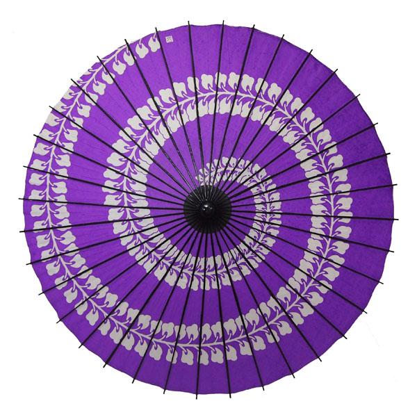 紙舞日傘 藤渦 紫