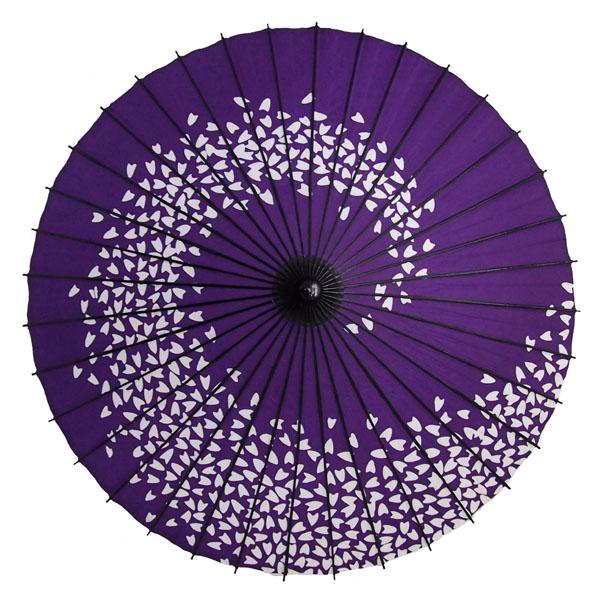 紙舞日傘 桜渦 紺