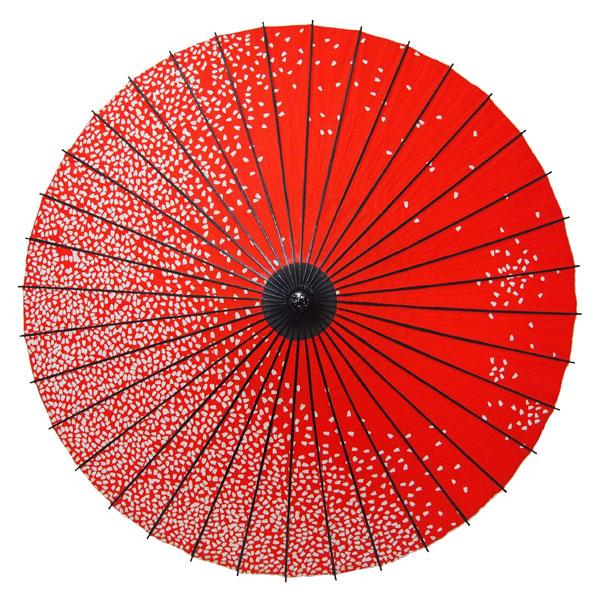 紙舞日傘 満天桜 エンジ