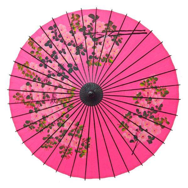 紙舞日傘 桜絵 ピンク