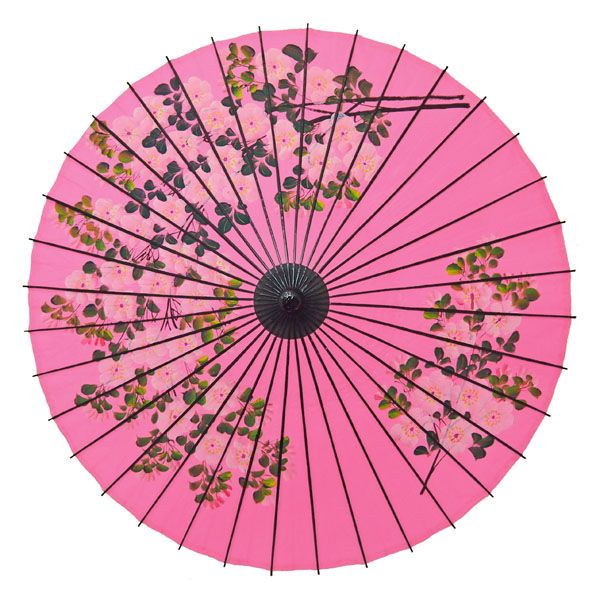 紙舞日傘 尺5 桜絵 ピンク