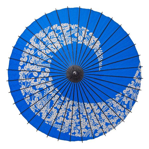 紙舞日傘 萩渦 青