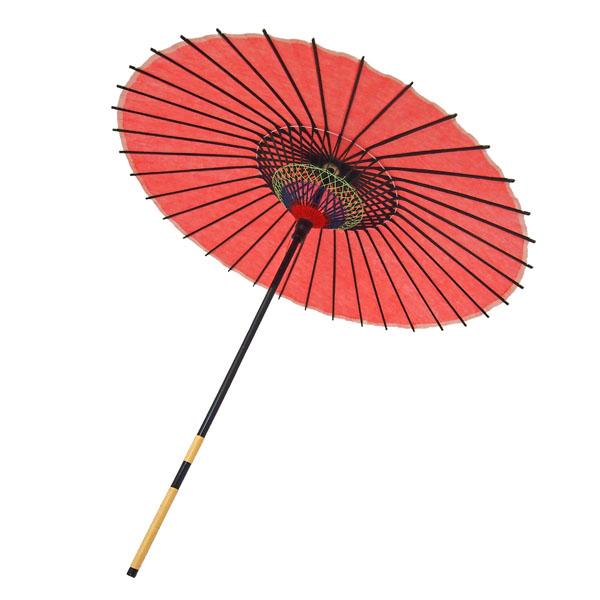 紙舞日傘 無地 エンジ