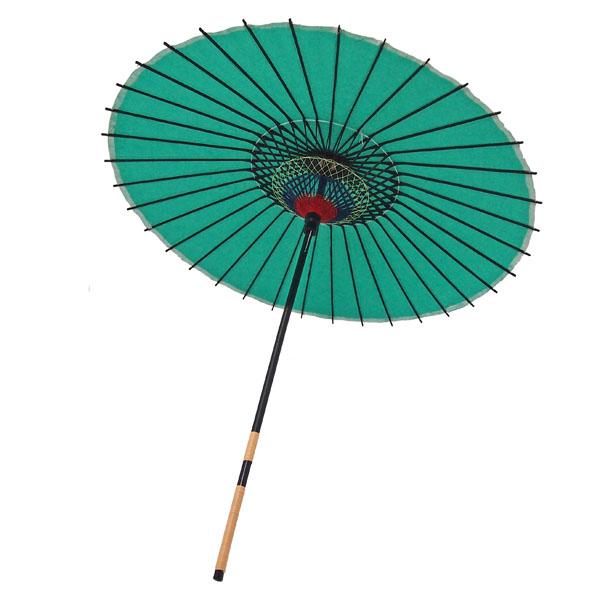 紙舞日傘 無地 緑