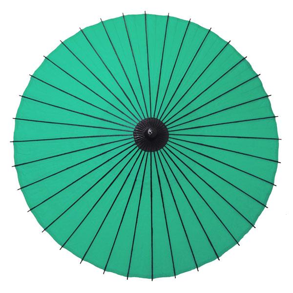 紙舞日傘 尺5 無地 緑