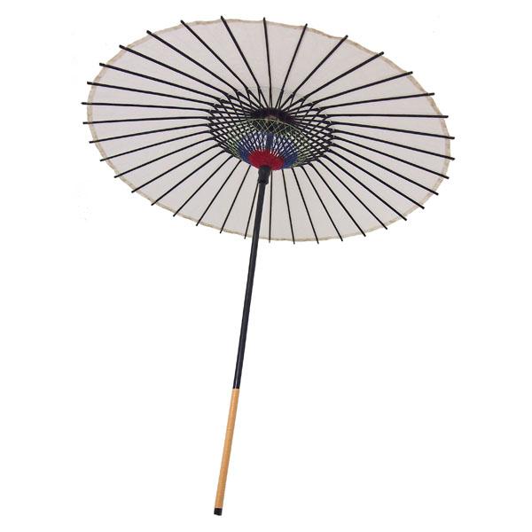 紙舞日傘 尺5 無地 白