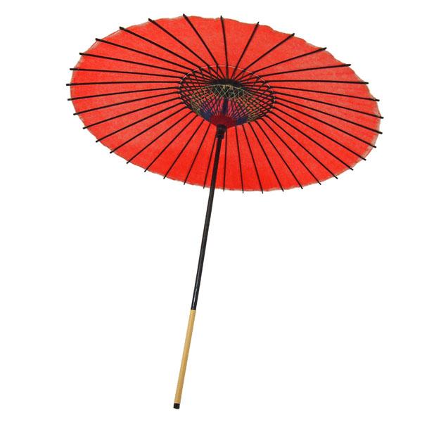 紙舞日傘 尺5 無地 エンジ