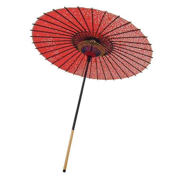 紙舞日傘 尺5 満天桜 エンジ