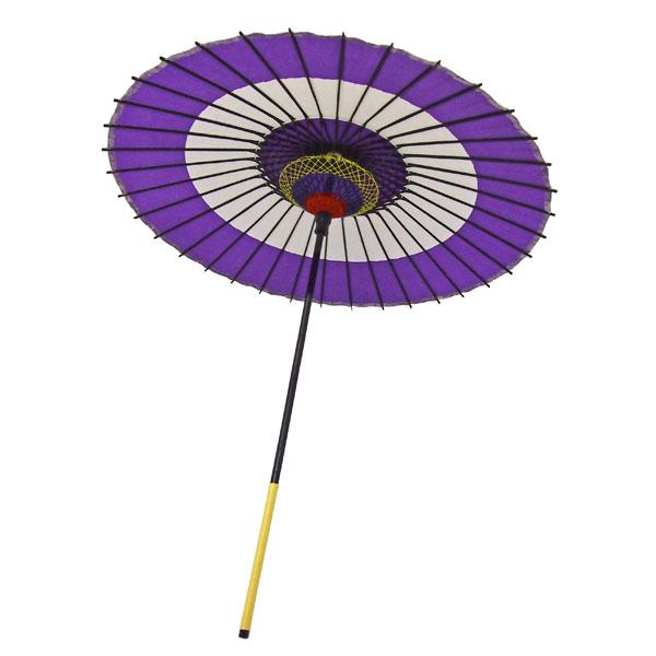 紙舞日傘 尺5 蛇の目柄 紫