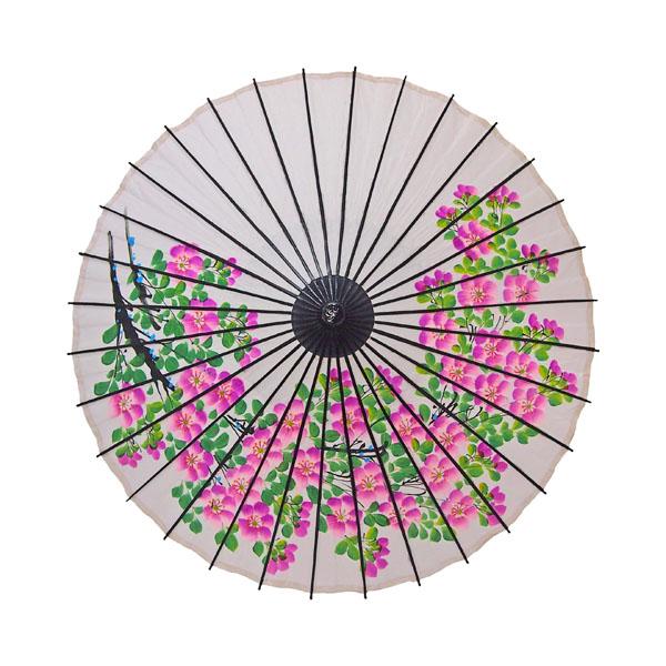 こども用和傘 桜絵 白