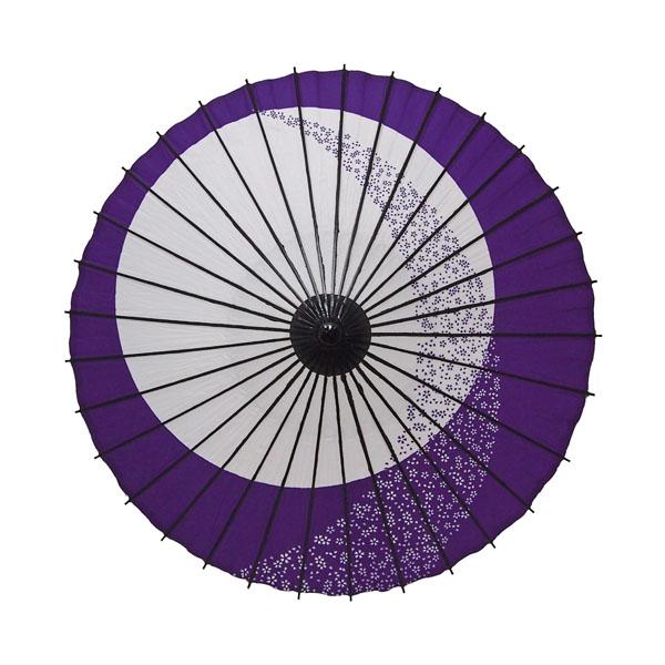 こども用和傘 月やっこ桜流し 紫