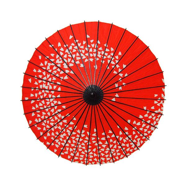 こども用和傘 桜渦 エンジ