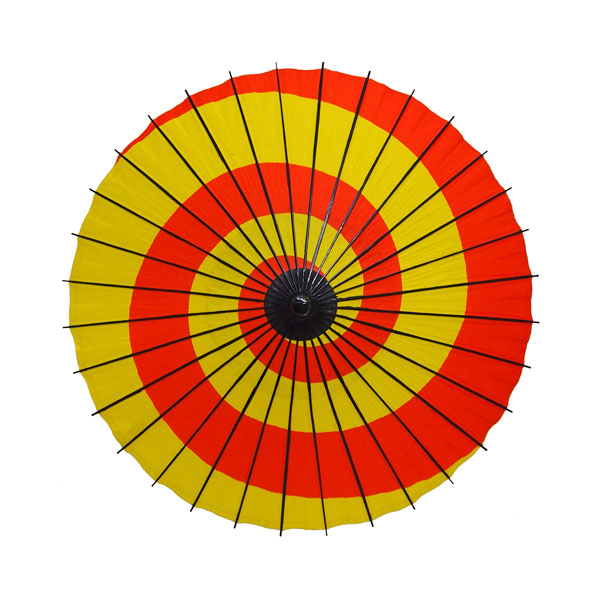 紙傘 こども用和傘 黄地赤渦